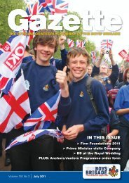 7137 BOYS BRIGADE GAZETTE JULY 2011.indd - The Boys' Brigade