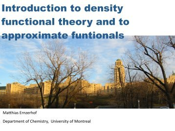 Introduction to DFT and density functionals - PiTP