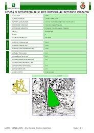 Scheda di censimento delle aree dismesse del territorio lombardo