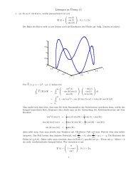 Lösungen zu ¨Ubung (1)