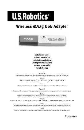 Wireless MAXg USB Adapter - U.S. Robotics