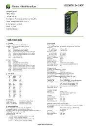 G2ZMF11 24-240V Timers - Multifunction Technical data