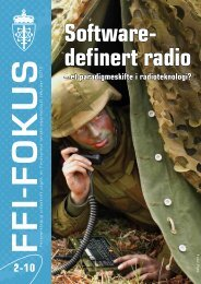 – et paradigmeskifte i radioteknologi? - Forsvarets forskningsinstitutt