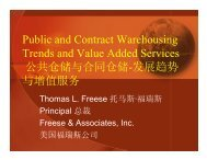 Public and Contract Warehousing Trends and Value Added ...
