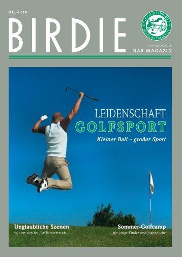 birdie 01_2010 (pdf 4 mb) - Golf-Club Coburg Schloss Tambach eV