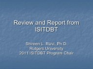 Review and Report from ISITDBT - Borderline Personality Disorder