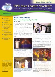 ISPD Asian Chapter Newsletter Volume 3, Issue 1 - International ...