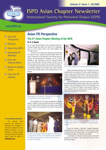 ISPD Asian Chapter Newsletter Volume 3, Issue 1 - International ...