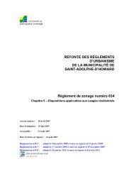 Dispositions applicables aux usages résidentiels - St-Adolphe d ...
