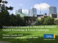 Occupational Exposure to Ultraviolet Radiation - Institute for Work ...