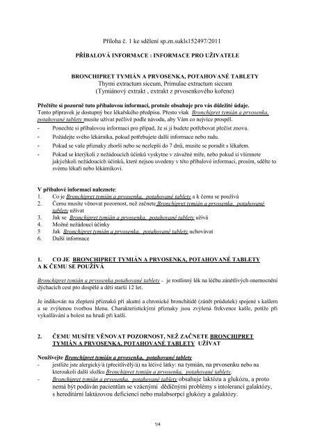 Bronchipret tablety - Schwabe Czech Republic