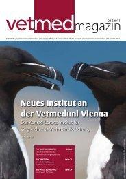 Neues Institut an der Vetmeduni Vienna - Veterinärmedizinische ...