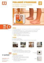 Podlahové kúrenie - kompletné montážne súpravy - V-system elektro