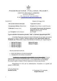 10^ convocazione lavoro di elite - calvisano - giugno e luglio