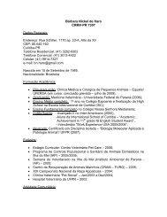 Bárbara Nickel de Haro CRMV-PR 7307 Dados Pessoais: Endereço ...