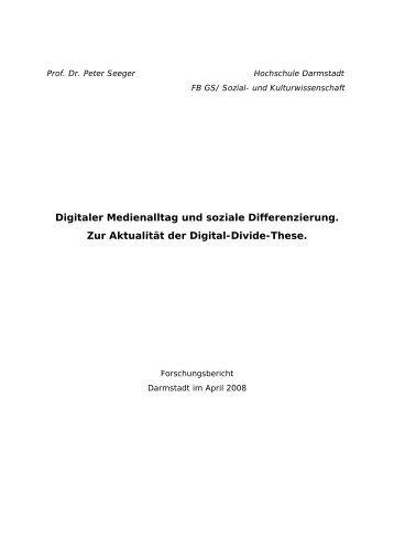 Digitaler Medienalltag und soziale Differenzierung. Zur Aktualität der ...