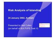 H - Risk analysis islanding