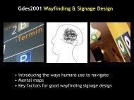 Gdes2001 Wayfinding & Signage Design
