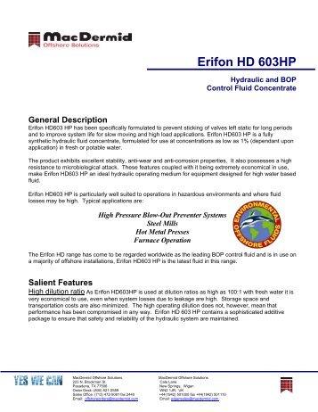 Erifon HD 603HP - ER Trading AS
