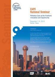CAPC National Seminar - Center to Advance Palliative Care