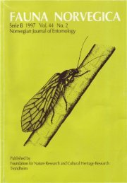 Serie B 1997 Vo\. 44 No.2 Norwegian Journal of Entomology - Norsk ...