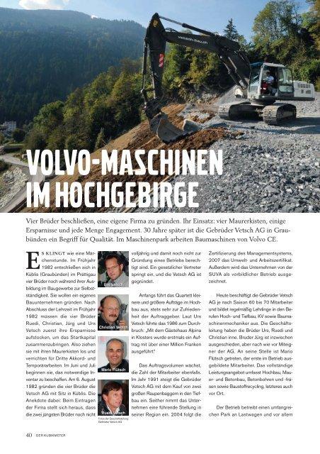 """Pressebericht Kundenzeitschrift """"Der Kubikmeter ... - Gebr. Vetsch AG"""