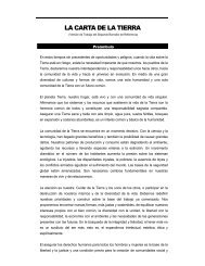 LA CARTA DE LA TIERRA - Earth Charter Initiative