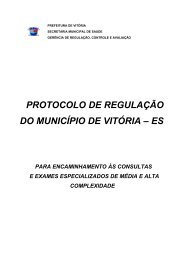 PROTOCOLO DE REGULAÇÃO DO MUNICÍPIO DE VITÓRIA – ES