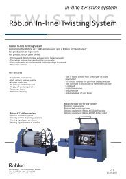 Roblon In-line Twisting System - Roblon A/S