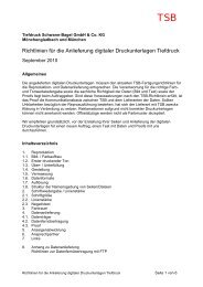 Richtlinien für die Anlieferung digitaler Druckunterlagen Tiefdruck