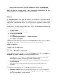 Centres d'information sur les droits des femmes et des familles ...
