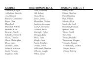 FPM 7-12 Honor Roll and Principal's List