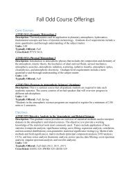 Fall Semester – (Odd Years: 2011 2013 2015 2017 2019) Core ...