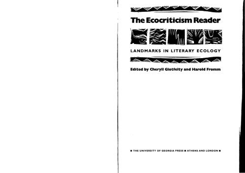 73887822 The Eco Criticism Reader Landmarks In Literary Ecology
