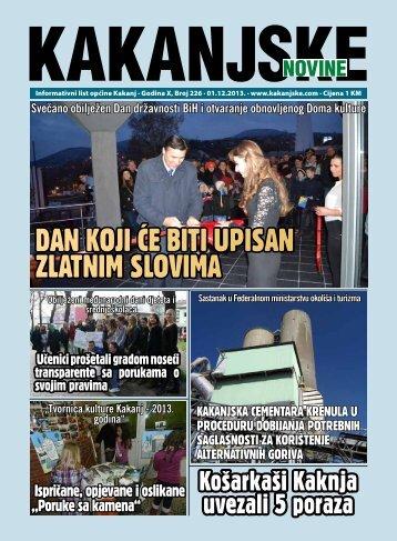 DAN KOJI ĆE BITI UPISAN ZLATNIM SLOVIMA - Kakanjske novine
