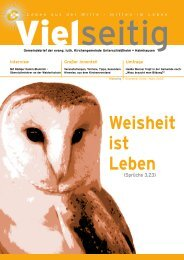 Weisheit ist Leben - Evangelische Kirchengemeinde Unterschleißheim