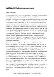zum Heiligen Abend 2008 von Pfarrer Lotz - Unterschleissheim ...