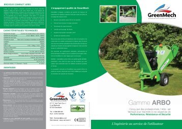 Gamme ARBO - Vert-Tech