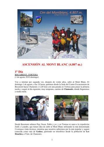 relato de la ascensión al Mont Blanc 2010