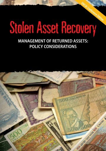 Management of Returned Assets - StAR - World Bank