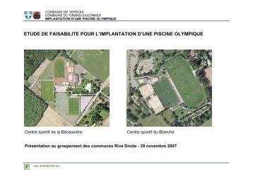 etude de faisabilite pour l'implantation d'une piscine ... - Versoix