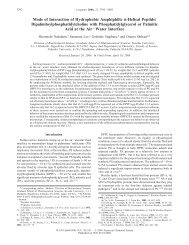 Mode of Interaction of Hydrophobic Amphiphilic r-Helical Peptide ...