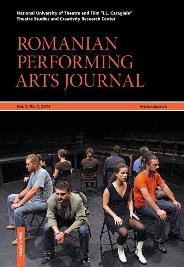 ROMANIAN PERFORMING ARTS JOURNAL - unatc