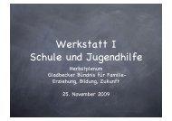 Werkstatt I Schule und Jugendhilfe - Gladbecker Bündnis für
