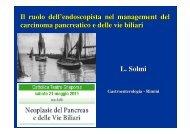 L. Solmi L. Solmi Il ruolo dell'endoscopista nel ... - Oncologia Rimini