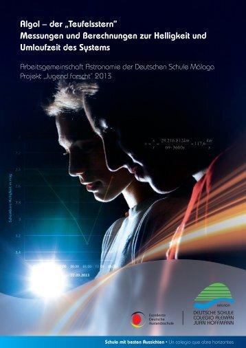 """Algol – der """"Teufelsstern"""" Messungen und Berechnungen zur ..."""