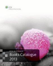 Books Catalogue 2013 - CCH Australia
