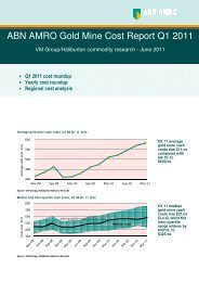 ABN AMRO Gold Mine Cost Report Q1 2011 - Virtual Metals