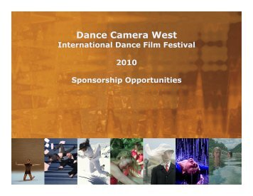 Sponsorship Opportunities - Dance Camera West