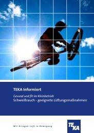 Schweißrauche – geeignete Lüftungsmaßnahmen ... - TEKA GmbH